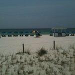 From the deck toward the beach