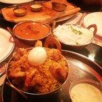 Shrimp Biryani, Butter Chicken, Chicken Masala Dosa