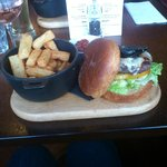 yummy burger with black pudding!