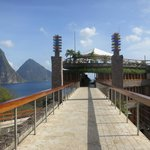 Walkway to Jade Mountain Club