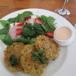 Crab Cakes with Spinach Salad