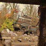Velociraptors crashing the Land Rover