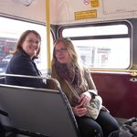Caroline, the one left, guiding me around in London :-)*