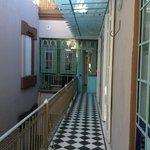 corredor interno do primeiro andar