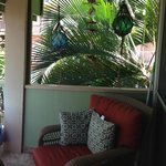 Cozy seating area on the lanai