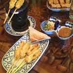 satay and prawn toast starter