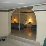 main living area looking into bedroom