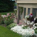 Garden patio off the Fairmont room