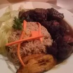 Brown Stew Chicken Dinner