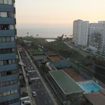 View of the Pacific from rooftop terrace