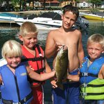 Bass caught with a team of kids using bobble + hook + worm - they worked all day!