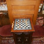 Chess anyone? A vintage board located in the lobby.