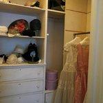 interior of a woman's closet