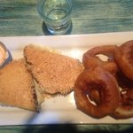Grilled cheese with onion rings- awesome