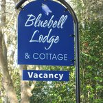 Bluebell Lodge Sign in Garden