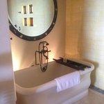 spacious tub for two