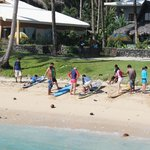 Surfing lessons right outside the inn.
