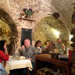 11th century rock cavern dining room