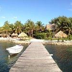 Panorama of Xanadu Resort from the pier (sigh).