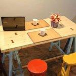 Dining Area มุมทานอาหารเช้าสุดเก๋ หรือจะนั่งทานขนมจิบชากาแฟ ก็เพลิน