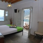 Double bed room with sea view balcony