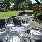 The lovely vintage garden chairs