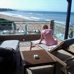Esplendida terraza con vostas al mar