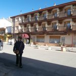La fachada del hotel