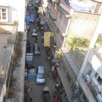 Rooftop view down into Thamel area below