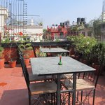 Delightful rooftop restaurant area