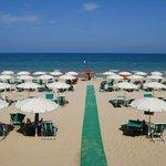 La spiaggia dell' Hotel
