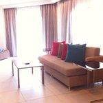 spacious living room in Premier Suite