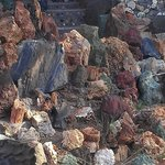 Close up of lava and native rocks
