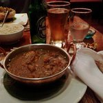Murg Masala, chapati (no naan unfortunately), brown rice, heini