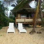 beach bungalow B1....feels like your own private beach down this end....