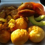 Ackee and Saltfish with fry dumplings