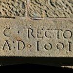 Date Stone 1691 - Thomas Clark Rector