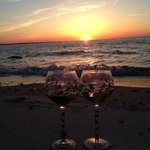Sunset and wine at Chapin Beach