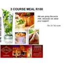 3 course meal for R100