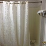 The shower curtain that is way to short