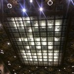 beautiful ceiling inside JP Morgan Chase