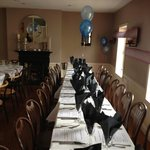 Upstairs set up for a private function.