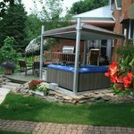 Jaccuzi , patio and garden