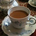 Beautiful china used at breakfast