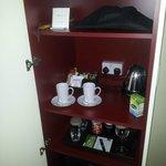 Tea/coffee cupboard.