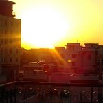 Sunset on the roof