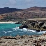 The rocky coast in the Arikok National Park.