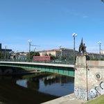 Зелёный мост - одна из главных достопримечательностей Вильнюса.