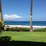 view from beach front condo