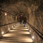 Walking deep into the chalk cellars